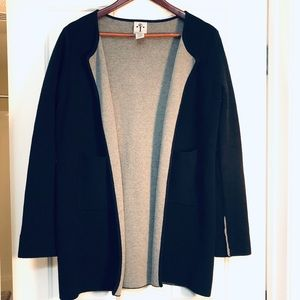 Trendy Chic Open-front Over-Sized Wool Cardigan